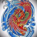 Необычный эскиз татуировки феникс – стильный рисунок для использования как эскиз для татуировки с фениксом