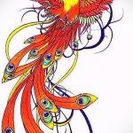 Классный эскиз татуировки феникс – оригинальный рисунок для использования как эскиз для тату с огненной птицей