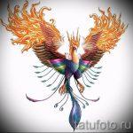 Крутой эскиз тату феникс – красивый рисунок для использования как эскиз для татуировки с фениксом