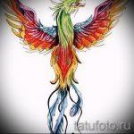 Интересный эскиз наколки феникс – оригинальный рисунок для использования как эскиз для тату с фениксом