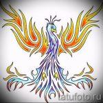 Крутой эскиз тату феникс – эксклюзивный рисунок для использования как эскиз для тату с огненной птицей