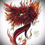 Крутой эскиз тату феникс – оригинальный рисунок для использования как эскиз для тату с фениксом