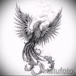 Эксклюзивный эскиз наколки феникс – эксклюзивный рисунок для использования как эскиз для тату с огненной птицей