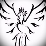 Необычный эскиз татуировки феникс – красивый рисунок для использования как эскиз для татуировки с фениксом