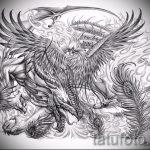 Необычный эскиз татуировки феникс – эксклюзивный рисунок для использования как эскиз для татуировки с фениксом