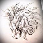 Эксклюзивный эскиз наколки феникс – оригинальный рисунок для использования как эскиз для татуировки с огненной птицей
