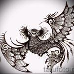 Эксклюзивный эскиз наколки феникс – оригинальный рисунок для использования как эскиз для татуировки с фениксом