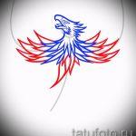 Крутой эскиз татуировки феникс – стильный рисунок для использования как эскиз для татуировки с огненной птицей