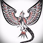 Эксклюзивный эскиз тату феникс – эксклюзивный рисунок для использования как эскиз для тату с огненной птицей