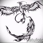 Классный эскиз татуировки феникс – оригинальный рисунок для использования как эскиз для татуировки с фениксом
