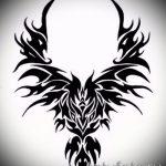 Необычный эскиз наколки феникс – оригинальный рисунок для использования как эскиз для тату с фениксом