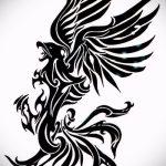 Интересный эскиз тату феникс – красивый рисунок для использования как эскиз для татуировки с фениксом