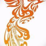 Крутой эскиз наколки феникс – стильный рисунок для использования как эскиз для тату с огненной птицей