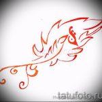 Эксклюзивный эскиз тату феникс – красивый рисунок для использования как эскиз для татуировки с огненной птицей