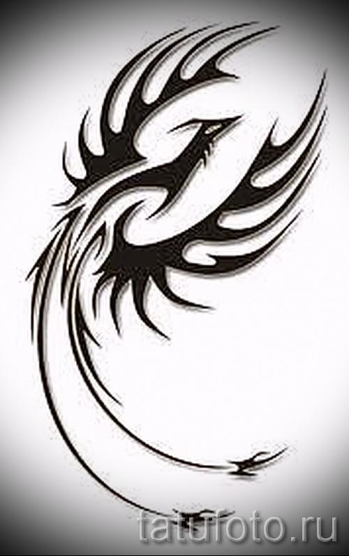 Эксклюзивный эскиз тату феникс – оригинальный рисунок для использования как эскиз для татуировки с фениксом