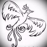 Крутой эскиз татуировки феникс – оригинальный рисунок для использования как эскиз для татуировки с огненной птицей