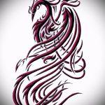 Классный эскиз наколки феникс – красивый рисунок для использования как эскиз для тату с фениксом