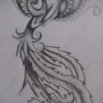 Интересный эскиз тату феникс – эксклюзивный рисунок для использования как эскиз для татуировки с фениксом