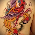 Эксклюзивный эскиз татуировки феникс – оригинальный рисунок для использования как эскиз для тату с огненной птицей