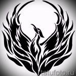 Крутой эскиз татуировки феникс – красивый рисунок для использования как эскиз для тату с фениксом