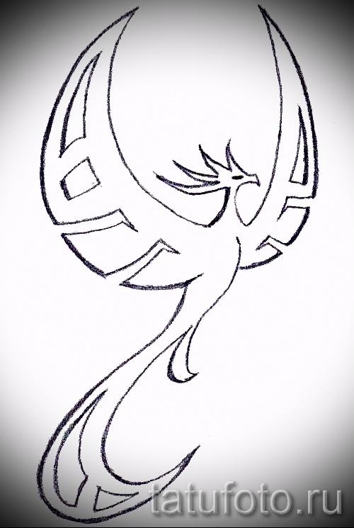 Эксклюзивный эскиз наколки феникс – эксклюзивный рисунок для использования как эскиз для тату с фениксом