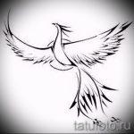 Крутой эскиз наколки феникс – оригинальный рисунок для использования как эскиз для татуировки с фениксом
