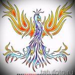 Необычный эскиз тату феникс – эксклюзивный рисунок для использования как эскиз для тату с фениксом