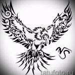 Эксклюзивный эскиз наколки феникс – стильный рисунок для использования как эскиз для тату с огненной птицей
