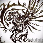 Классный эскиз татуировки феникс – эксклюзивный рисунок для использования как эскиз для татуировки с фениксом