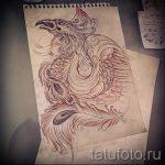 Классный эскиз тату феникс – оригинальный рисунок для использования как эскиз для татуировки с фениксом