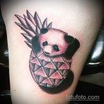 Зачетный пример готовой татуировки ананас – рисунок подойдет для тату ананас на пояснице