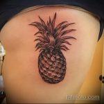Классный пример готовой наколки ананас – рисунок подойдет для tattoo ananas