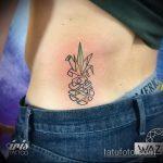 Зачетный вариант нанесенной тату ананас – рисунок подойдет для tattoo ananas