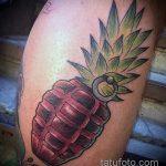 Уникальный пример выполненной татуировки ананас – рисунок подойдет для тату ананас на руке