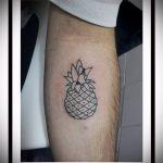 Зачетный пример готовой татуировки ананас – рисунок подойдет для тату ананас на руке