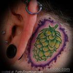 Зачетный вариант выполненной тату ананас – рисунок подойдет для тату ананас акварель