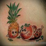 Прикольный пример готовой тату ананас – рисунок подойдет для tattoo ananas