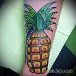 Уникальный пример готовой тату ананас – рисунок подойдет для тату ананас на пальце