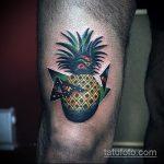 Зачетный вариант существующей наколки ананас – рисунок подойдет для тату ананас на руке