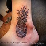 Прикольный вариант выполненной наколки ананас – рисунок подойдет для tattoo ananas