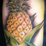 Прикольный пример готовой тату ананас – рисунок подойдет для тату ананас tiny love
