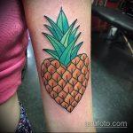 Крутой вариант выполненной татуировки ананас – рисунок подойдет для tattoo ananas