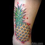Зачетный пример нанесенной татуировки ананас – рисунок подойдет для тату ананас на руке