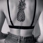 Крутой вариант существующей тату ананас – рисунок подойдет для тату ананас акварель