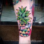 Классный вариант существующей тату ананас – рисунок подойдет для тату ананас на шее
