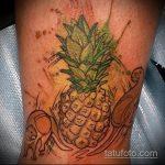 Крутой вариант выполненной тату ананас – рисунок подойдет для тату ананас акварель