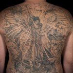 Зачетный пример нанесенной тату Архангел Михаил – рисунок подойдет для тату архангел михаил для девушки