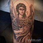 Крутой вариант существующей татуировки Архангел Михаил – рисунок подойдет для архангел михаил тату на спине
