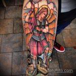 Классный пример выполненной тату Архангел Михаил – рисунок подойдет для архангел михаил тату на руке