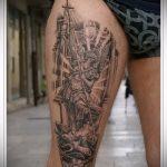 Оригинальный вариант нанесенной тату Архангел Михаил – рисунок подойдет для тату архангела михаила с мечом